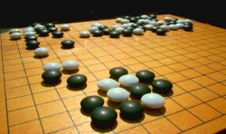 Go is known for the beautiful patterns created in the course of a game.