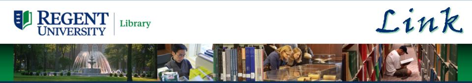 Regent University Library Link