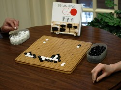 Relax while improving you understanding of strategy by playing Go at the Library.