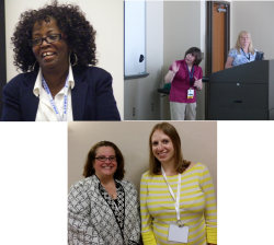 Library faculty at conferences in June (clockwise from top left: Dorothy Hargett, Sandy Yaegle, Georgi Bordner, Melody Detar, Sara Baron)