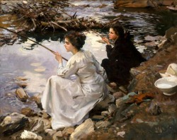 John Singer Sargent, Two Girls Fishing, 1912