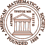 "Seal of the American Mathematical Society. The Greek motto, ""Let no one ignorant in geometry enter,"" was reportedly engraved on the door of Plato's Academy."