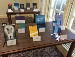 A selection of the recent faculty monographs. See our Facebook and Google+ pages for more photos from this event.