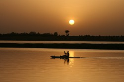Mali: The Niger River, which the author crossed using local transportation in 1969.
